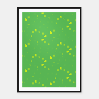 Simple Geometric Pattern 3 gy Framed poster miniature