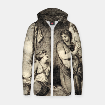 Thumbnail image of The couple Zip up hoodie, Live Heroes