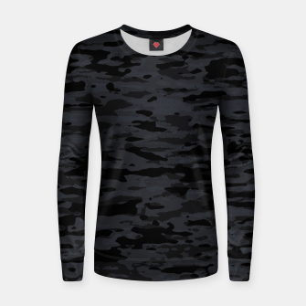 Thumbnail image of Night Camouflage Pattern Mosaic Style  Frauen sweatshirt, Live Heroes