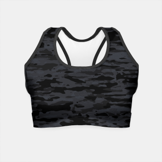 Thumbnail image of Night Camouflage Pattern Mosaic Style  Crop Top, Live Heroes