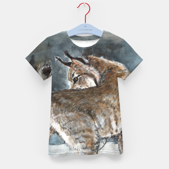 Thumbnail image of Canadian Lynx in Winter Camiseta para niños, Live Heroes