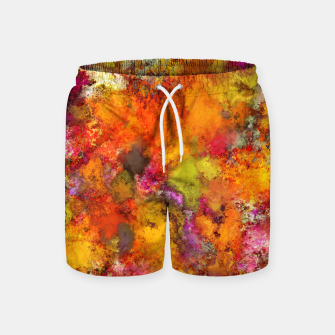 Miniatur Orange pop Swim Shorts, Live Heroes