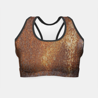 Thumbnail image of Rust Texture Crop Top, Live Heroes