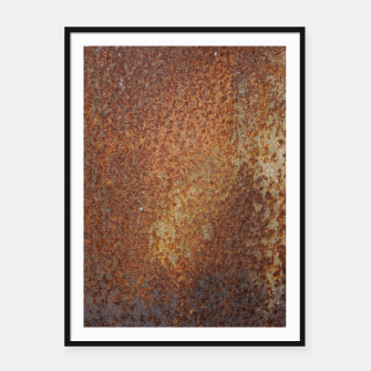 Thumbnail image of Rust Texture Plakaty w ramie , Live Heroes