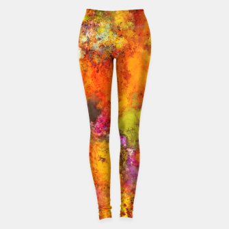 Thumbnail image of Orange pop Leggings, Live Heroes