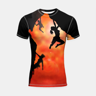 Thumbnail image of Rock climbing in the sun Rashguard, Live Heroes