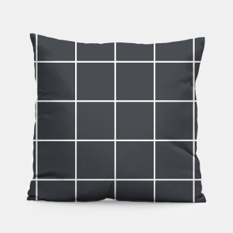 Thumbnail image of Grid pattern on dark blue Pillow, Live Heroes