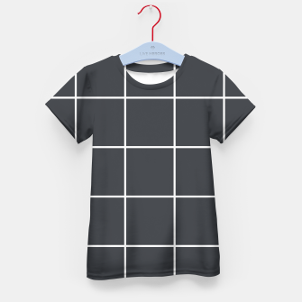 Thumbnail image of Grid pattern on dark blue Kid's t-shirt, Live Heroes