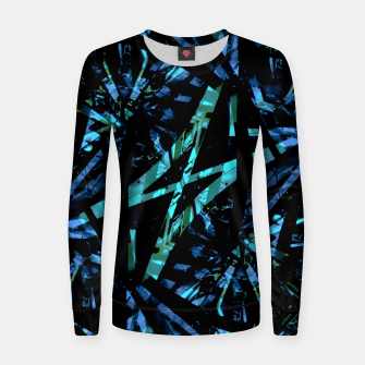 Miniatur Modern Abstract Geo Print Women sweater, Live Heroes