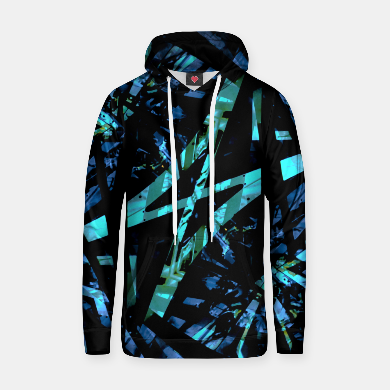 Image of Modern Abstract Geo Print Hoodie - Live Heroes