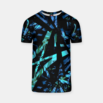 Miniatur Modern Abstract Geo Print T-shirt, Live Heroes