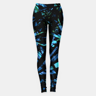 Miniatur Modern Abstract Geo Print Leggings, Live Heroes