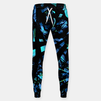 Miniatur Modern Abstract Geo Print Sweatpants, Live Heroes