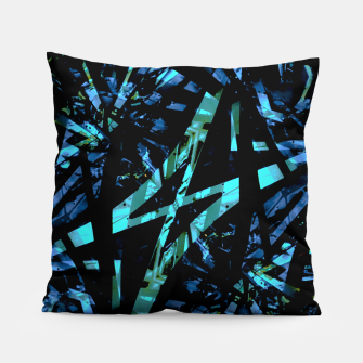 Miniatur Modern Abstract Geo Print Pillow, Live Heroes