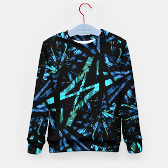Miniatur Modern Abstract Geo Print Kid's sweater, Live Heroes