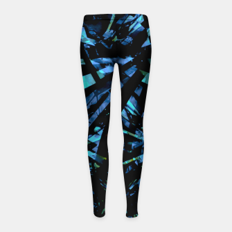 Miniatur Modern Abstract Geo Print Girl's leggings, Live Heroes