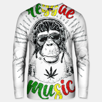 Thumbnail image of Reggea Music Funny Chimp Unisex sweater, Live Heroes