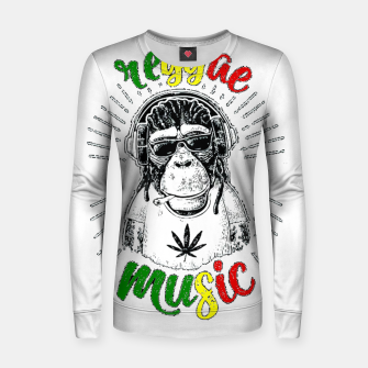 Thumbnail image of Reggea Music Funny Chimp Women sweater, Live Heroes