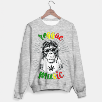 Reggea Music Funny Chimp Sweater regular Bild der Miniatur