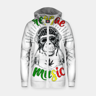 Miniatur Reggea Music Funny Chimp Zip up hoodie, Live Heroes