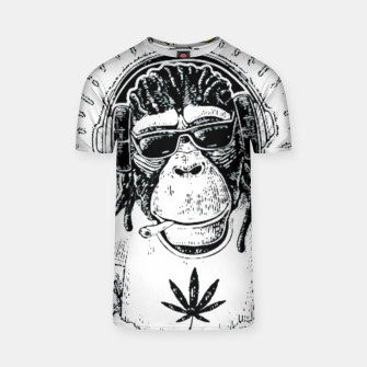 Thumbnail image of Reggea Music Funny Chimp T-shirt, Live Heroes