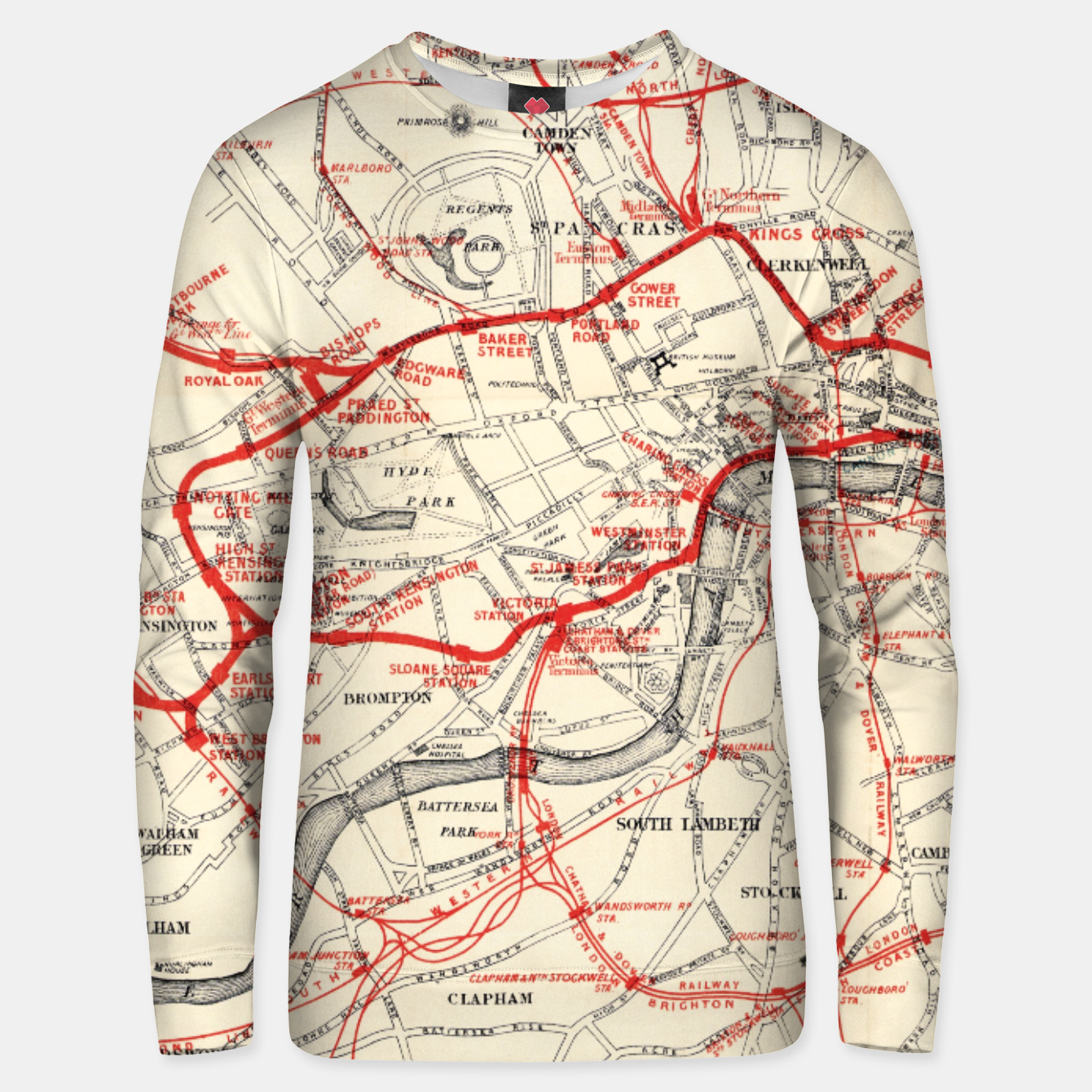 Image of London Metropolitan Railway Unisex sweater - Live Heroes