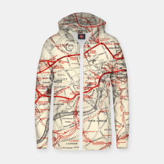 Thumbnail image of London Metropolitan Railway Zip up hoodie, Live Heroes