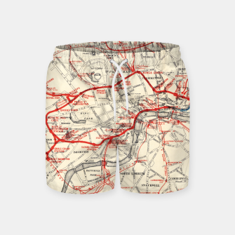 Thumbnail image of London Metropolitan Railway Swim Shorts, Live Heroes