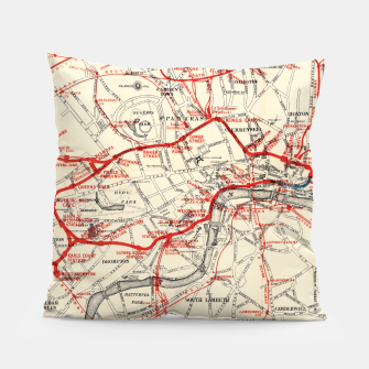 Thumbnail image of London Metropolitan Railway Pillow, Live Heroes