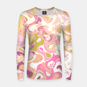 Thumbnail image of Little princess pink world, abstract pinkish shapes Women sweater, Live Heroes