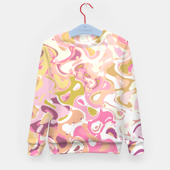 Thumbnail image of Little princess pink world, abstract pinkish shapes Kid's sweater, Live Heroes