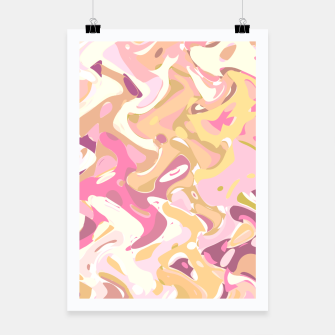 Thumbnail image of Little princess pink world, abstract pinkish shapes Poster, Live Heroes