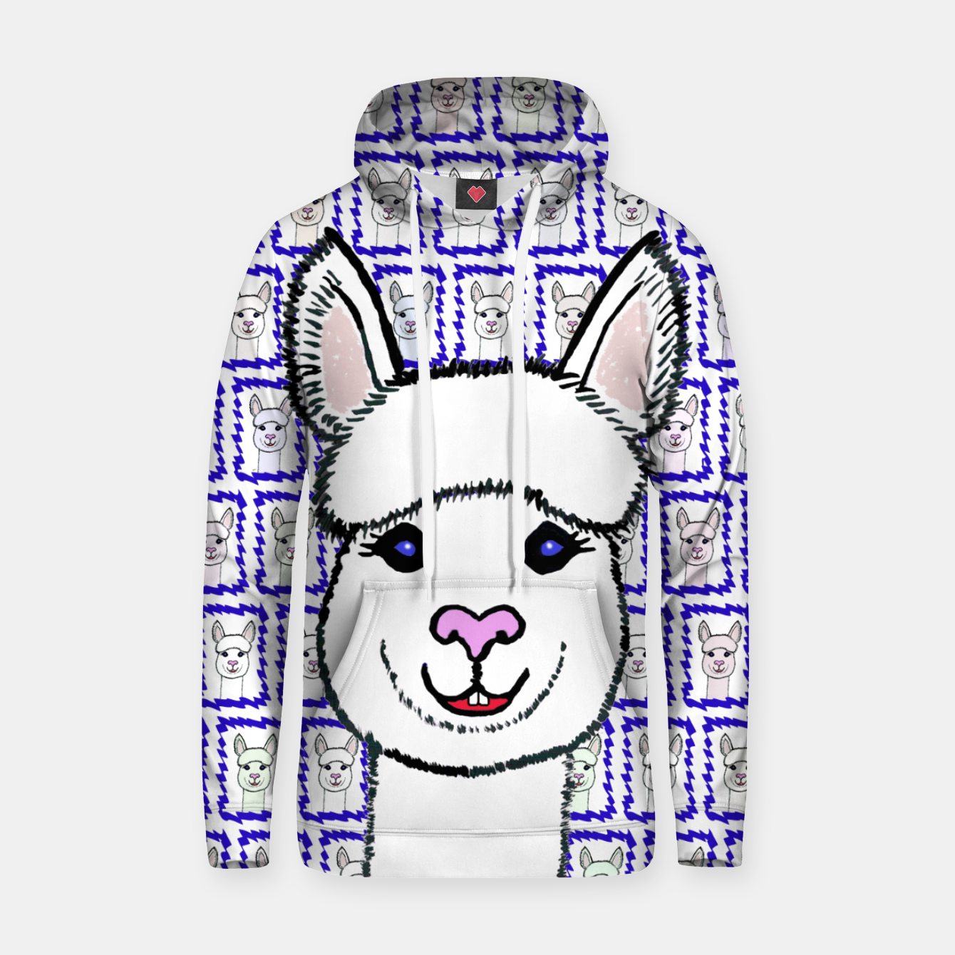 Image of Alpaca Love - Be happy! Kapuzenpullover - Live Heroes
