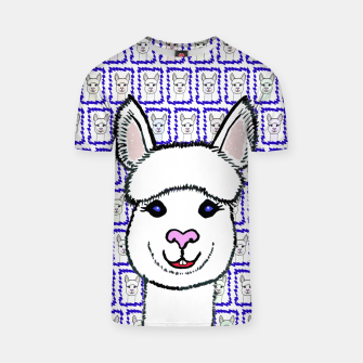 Alpaca Love - Be happy! T-Shirt thumbnail image