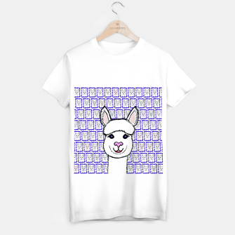 Thumbnail image of Alpaca Love - Be happy! T-Shirt regulär, Live Heroes