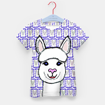 Alpaca Love - Be happy! T-Shirt für kinder thumbnail image