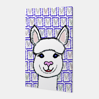 Alpaca Love - Be happy! Canvas thumbnail image