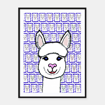 Thumbnail image of Alpaca Love - Be happy! Plakat mit rahmen, Live Heroes
