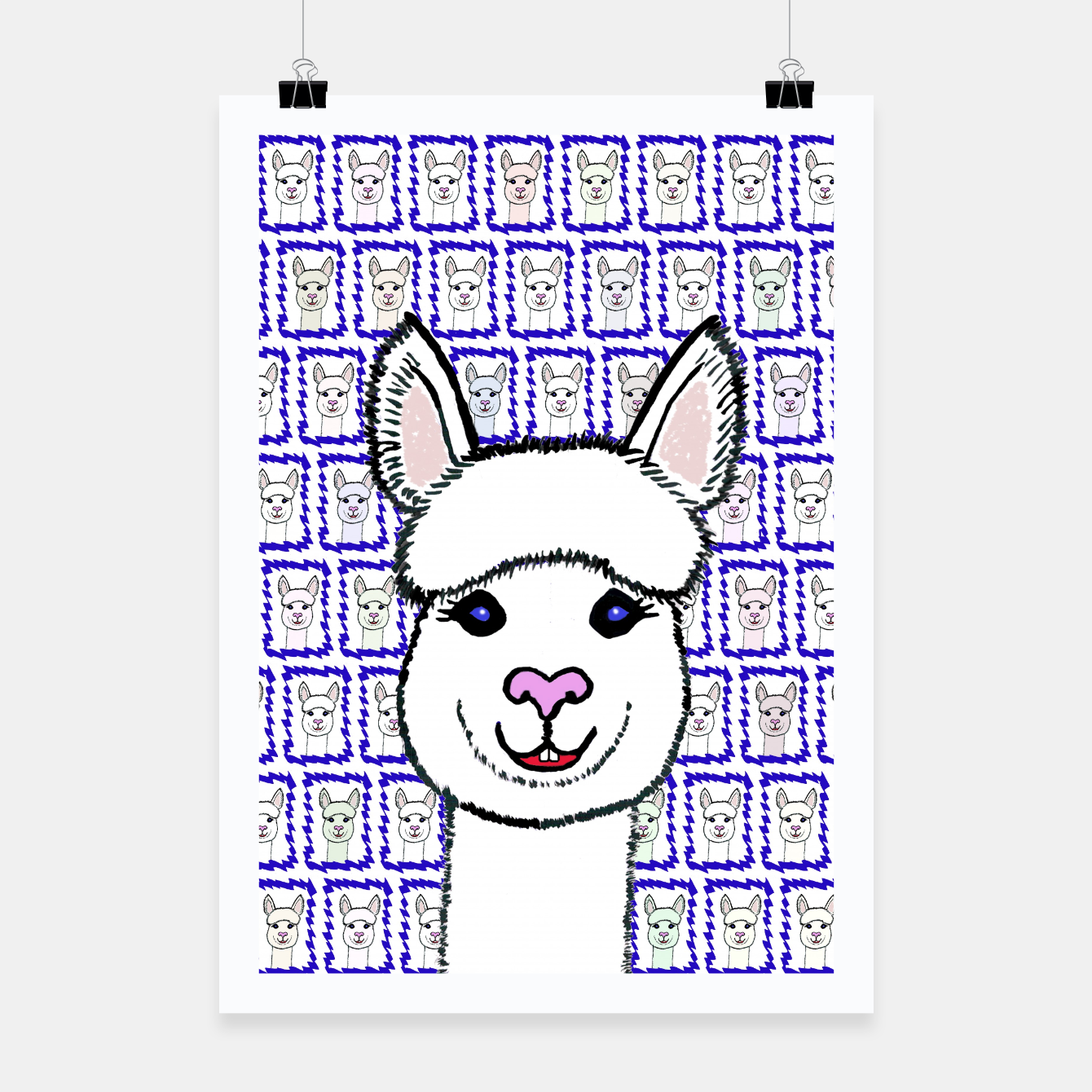Image of Alpaca Love - Be happy! Plakat - Live Heroes
