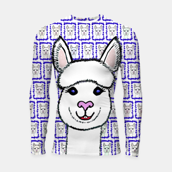 Thumbnail image of Alpaca Love - Be happy! Longsleeve rashguard, Live Heroes