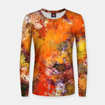 Thumbnail image of A jumping orange horse Women sweater, Live Heroes