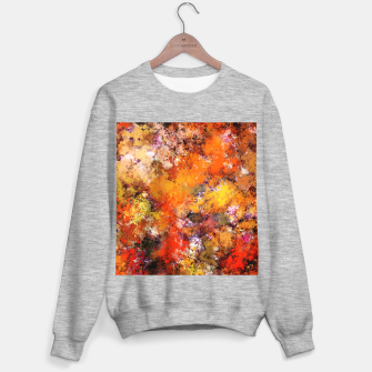 Thumbnail image of A jumping orange horse Sweater regular, Live Heroes