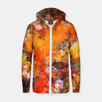 Thumbnail image of A jumping orange horse Zip up hoodie, Live Heroes