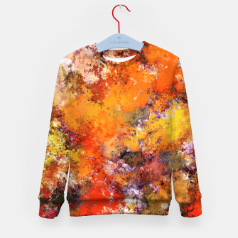Thumbnail image of A jumping orange horse Kid's sweater, Live Heroes