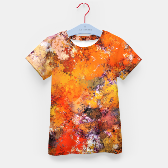 Thumbnail image of A jumping orange horse Kid's t-shirt, Live Heroes