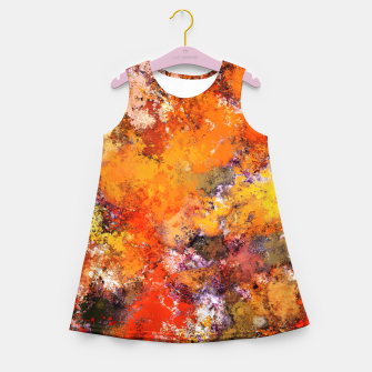 Thumbnail image of A jumping orange horse Girl's summer dress, Live Heroes