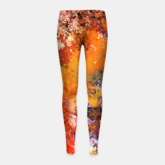 Thumbnail image of A jumping orange horse Girl's leggings, Live Heroes