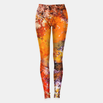 Thumbnail image of A jumping orange horse Leggings, Live Heroes