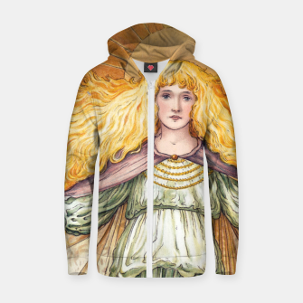 Thumbnail image of Princess Golden Flower Zip up hoodie, Live Heroes