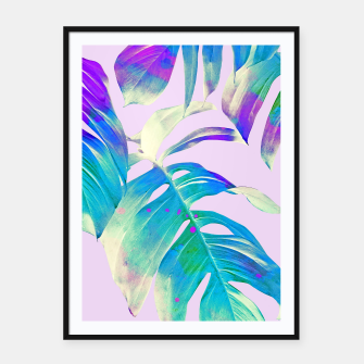 Thumbnail image of Monstera Leaves Framed poster, Live Heroes